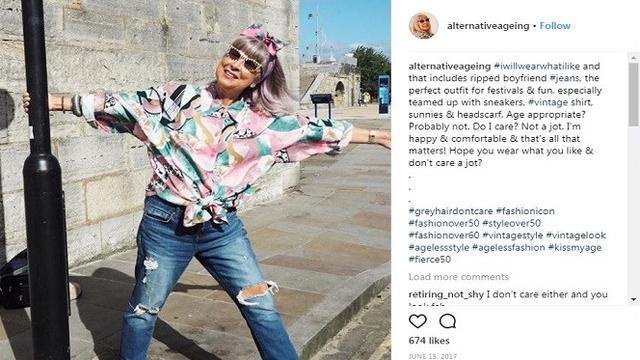 Suzy Grant, hampir 70 tahun tapi tetap eksis di Instagram