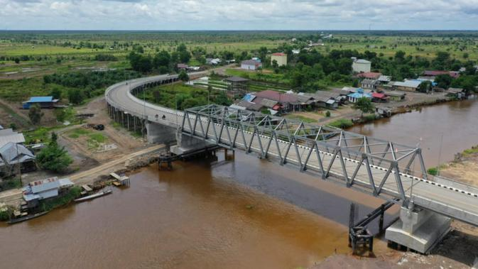 Penampakan Jembatan Sei Alalak, Jalur Penghubung Utama Kota Banjarmasin