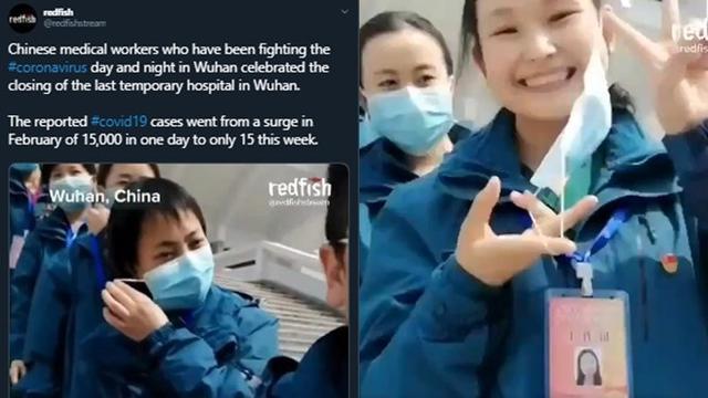 Cara unik tenaga medis rayakan menurunnya kasus virus corona di Wuhan, China