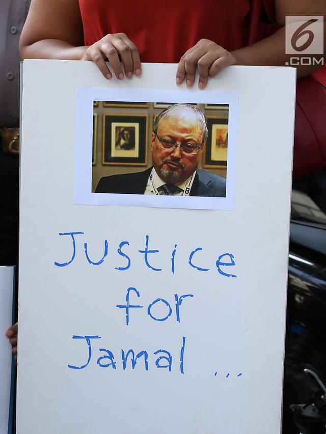 Kecam Hilangnya Jamal Khashoggi, Jurnalis Unjuk Rasa di Kedubes Saudi