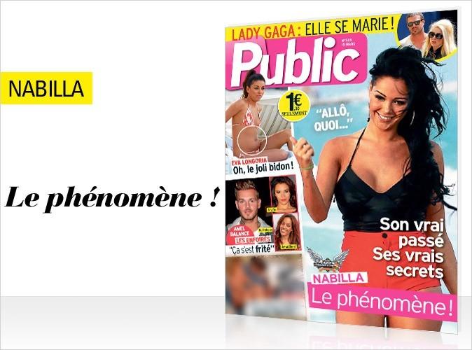 Nabilla Benattia en couverture de Public