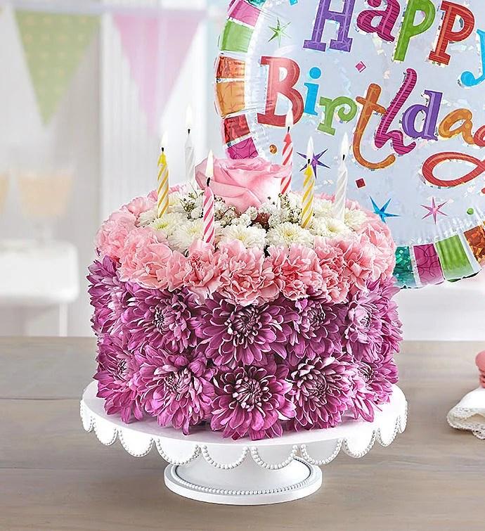 Birthday Wishes Flower Cake Pastel 148666