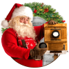 Santa In Photo – Christmas Stickers For Pictures