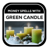 Money Spells With Green Candle