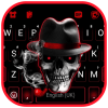 Mafia Smoke Skull Keyboard Background