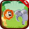 Zoo Animals Sound Kids Games - Name Colour Puzzle