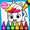 Unicorn Coloring Book & Baby Games for Girls