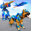 Police Dog Robot Car Transform War: Robot Games