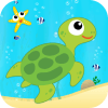 Learn Sea World Animal Game-Name Puzzle Colouring