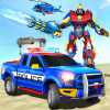 Police Robot Tow Truck Driving Car Transport Game