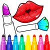 Beauty Makeup: Glitter Coloring Game for Girls