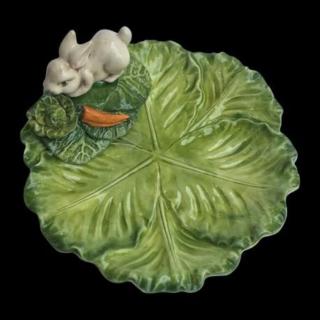 petite assiette faience choux lapin
