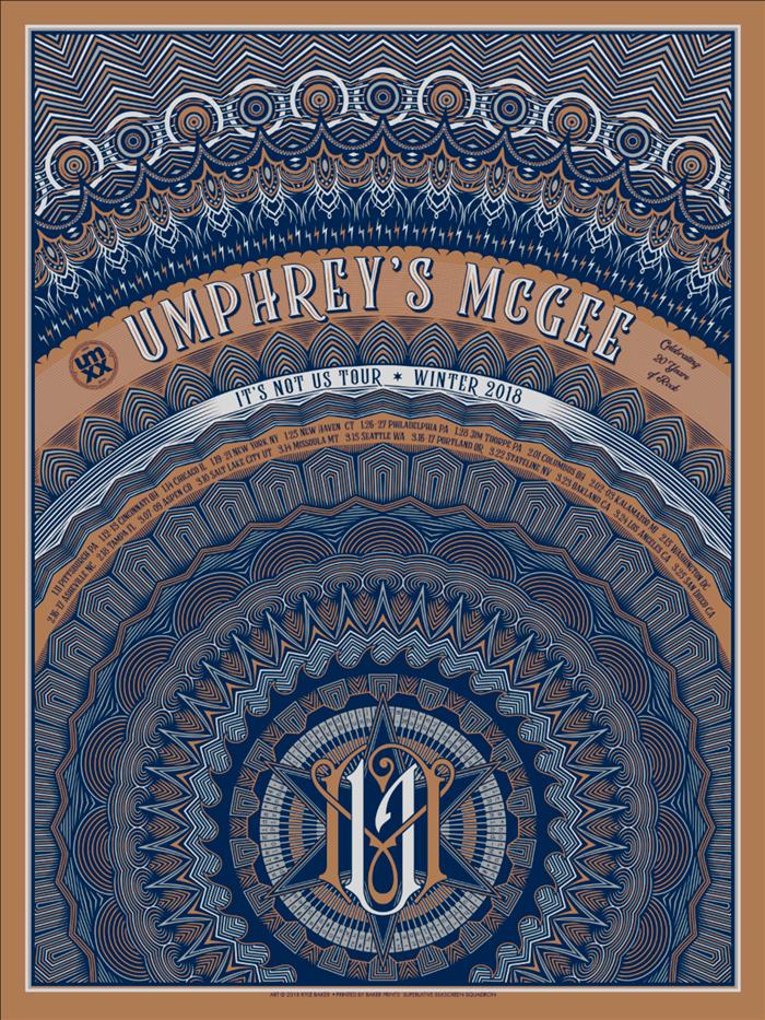 umphrey s it s not us 2018 tour poster
