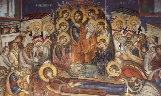 Αποτέλεσμα εικόνας για κοιμηση της θεοτοκου