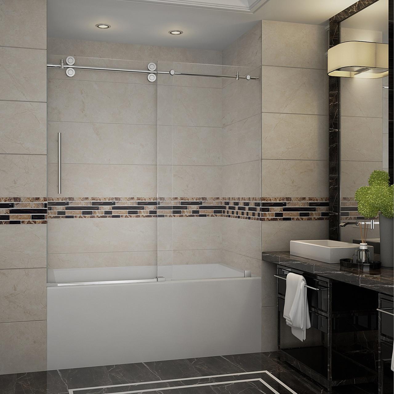 Tdr978 Langham 60 Frameless Sliding Tub Height Shower Door