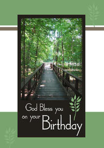 God Bless You On Your Birthday 5 X 7 KJV Greeting Card