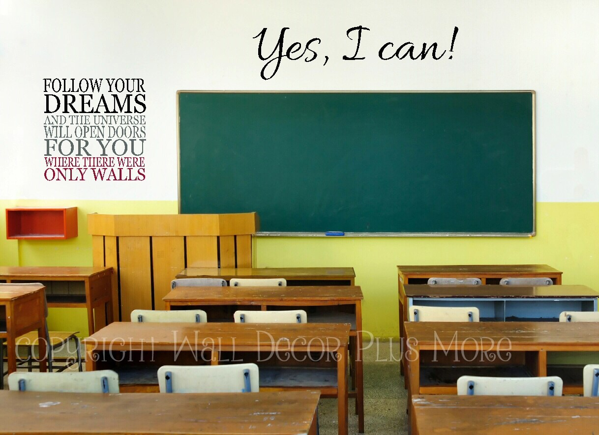 Teachers Here Are 5 Wall Decal Quotes Perfect For Your Classroom Wall Decor Plus More