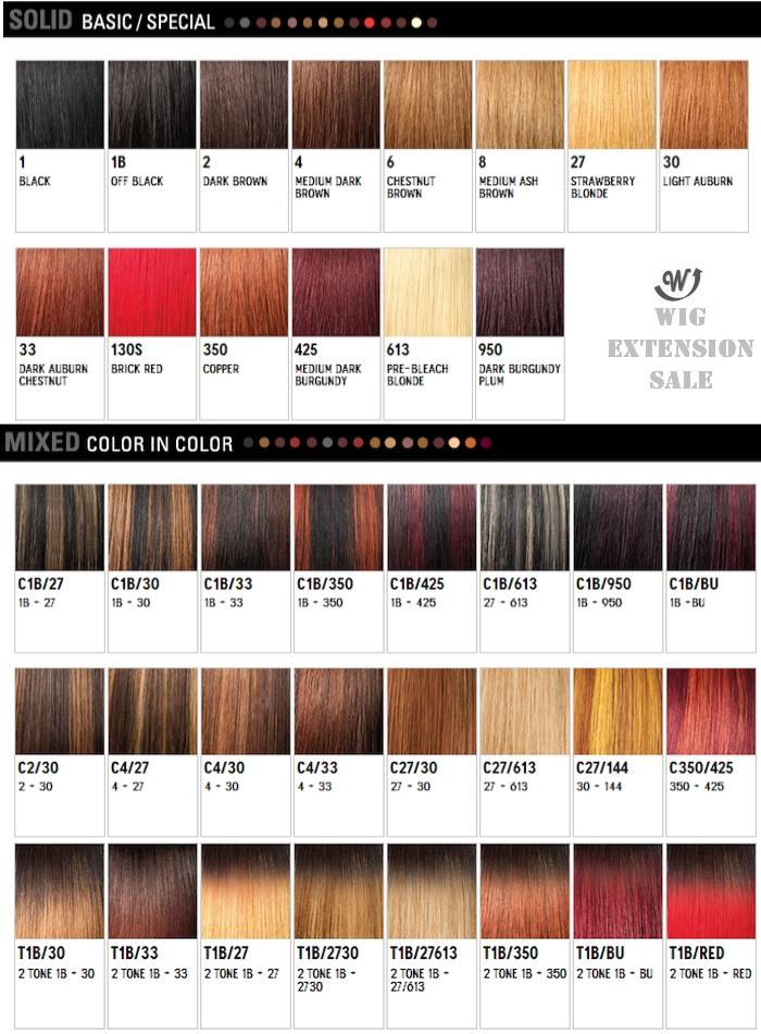 Texture Color Chart Weave Human Hair Weave Outre Purple