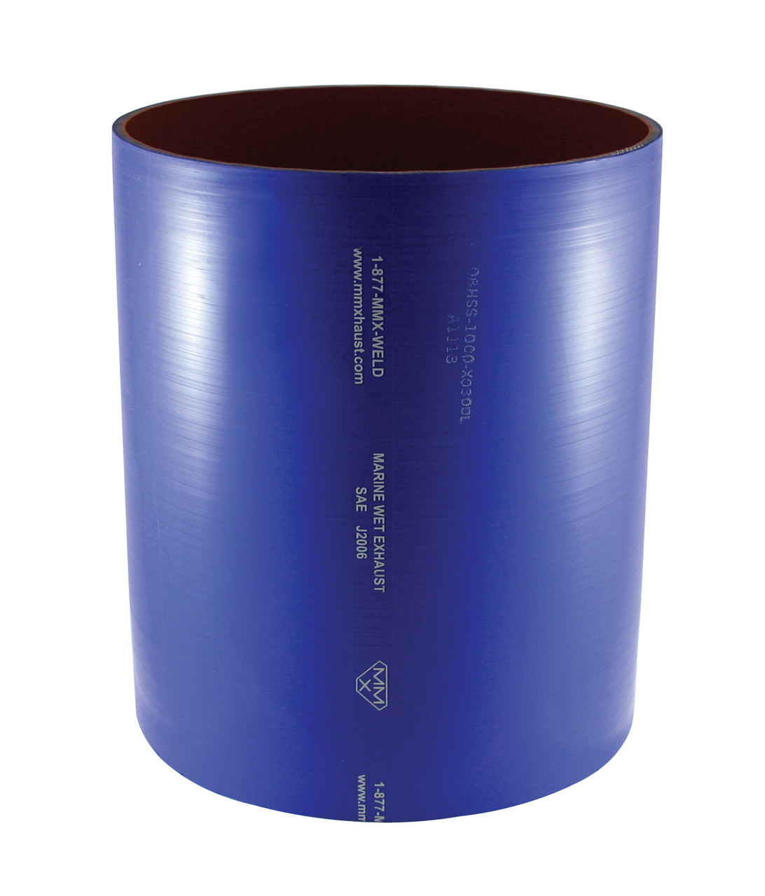 4 blue silicone wet marine exhaust straight hose per foot