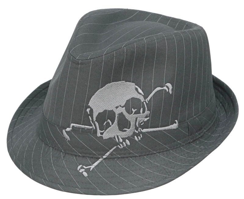 Kenny K Skull Embroidered Fedora Hat Hats Unlimited