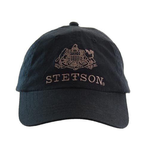Stetson Black Baseball Cap Hats Unlimited