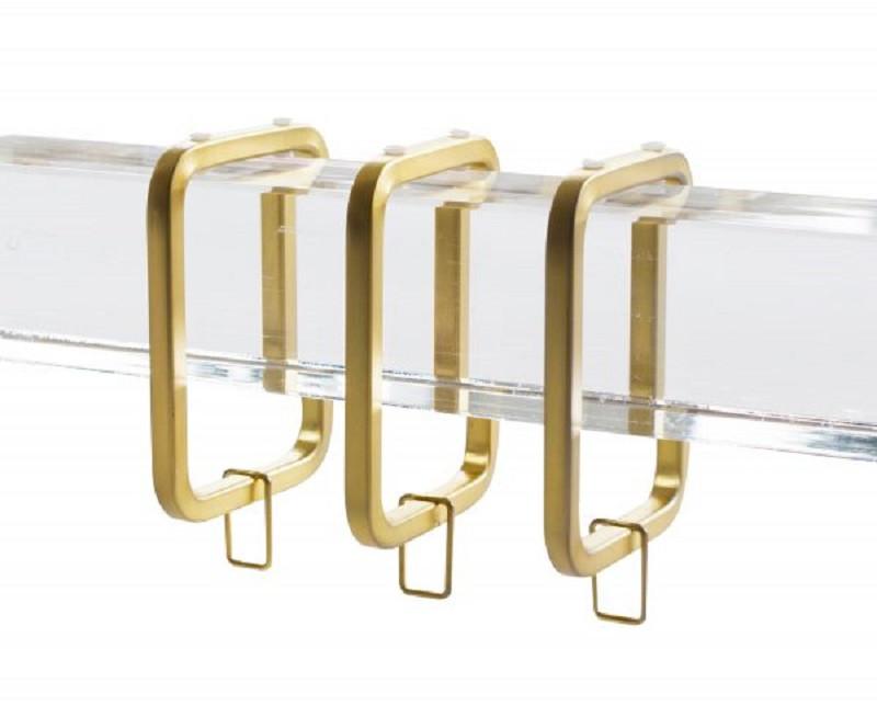 lucite window hardware set satin gold 8 feet