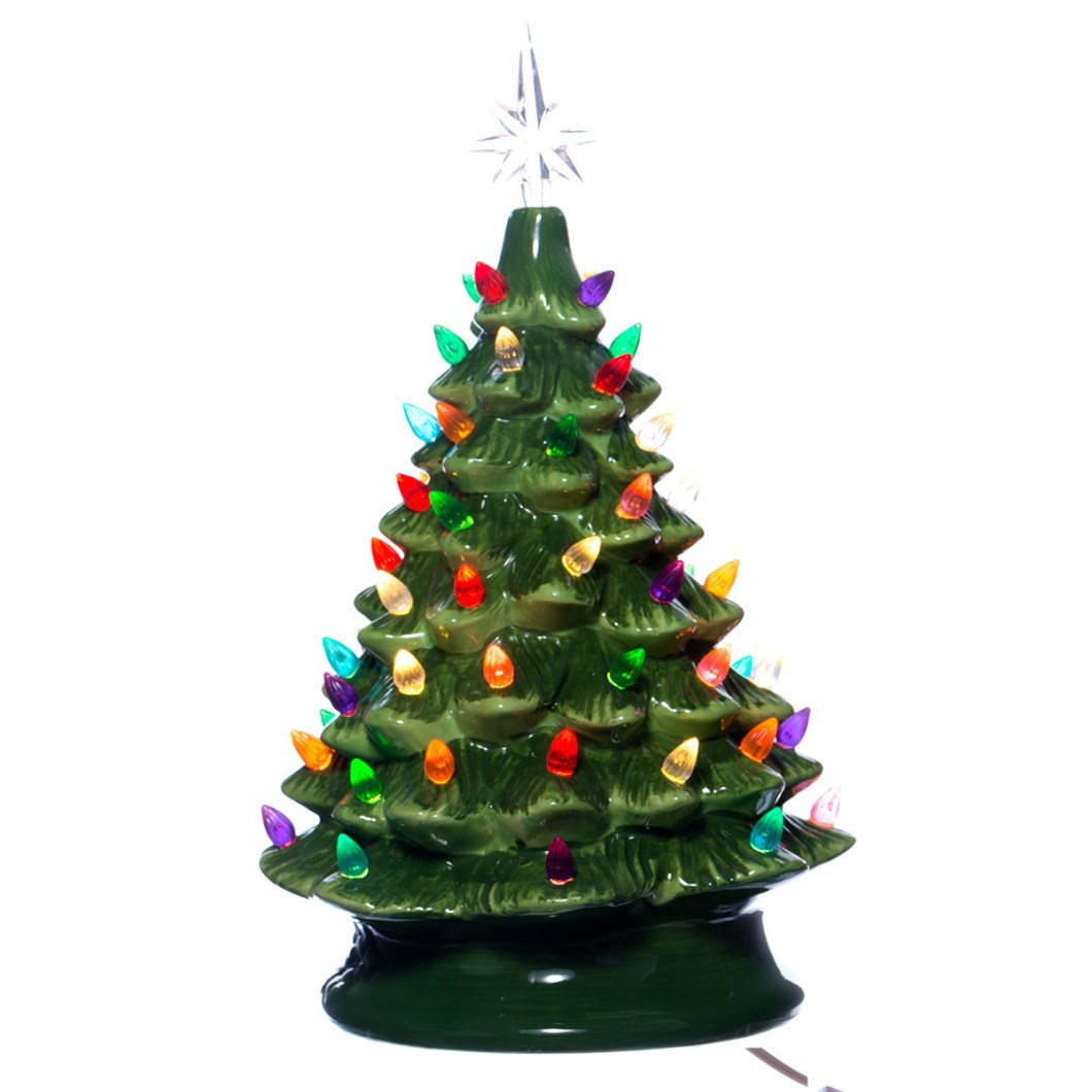 Ceramic Light Up Christmas Tree Uk: Vintage Christmas Decorations Canada