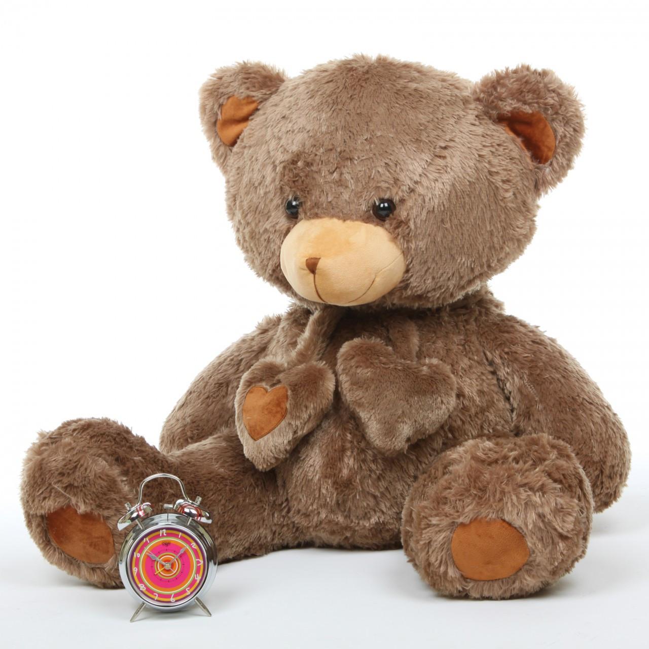 Cheaky Hugs 36 Mocha Brown Big Stuffed Teddy Bear Giant