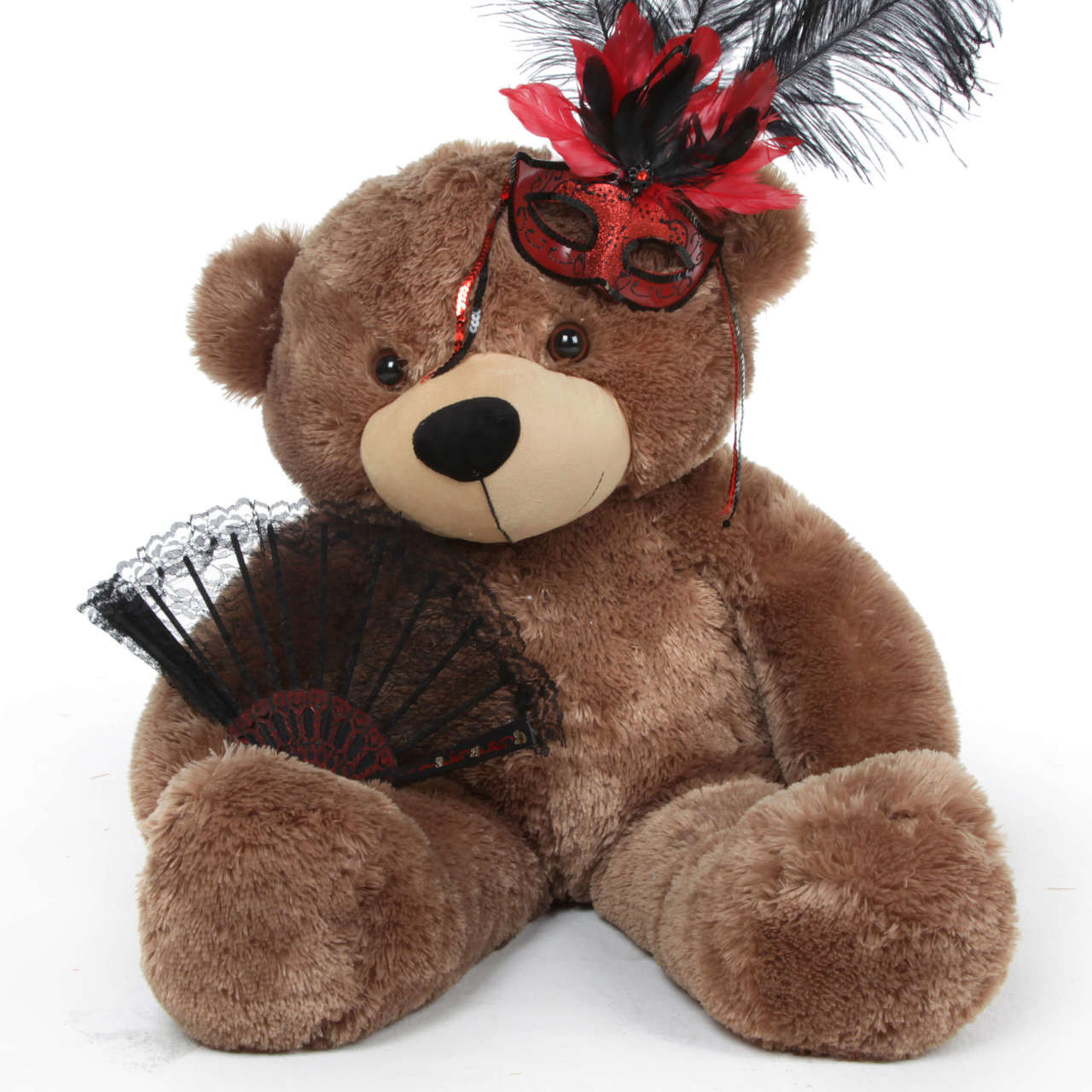 Sunny Cuddles Halloween Giant Teddy Bear In Red And Black