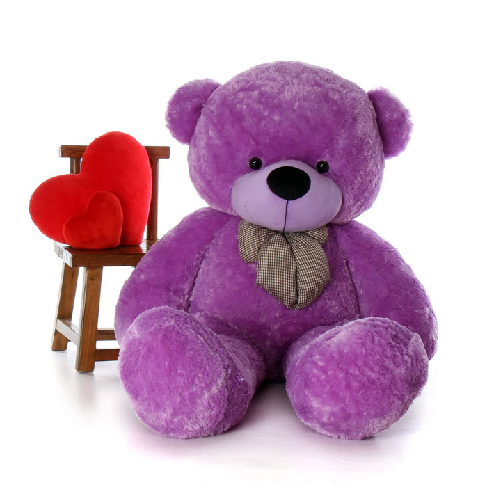 Deedee Cuddles 65 Lilac Plush Life Size Teddy Bear