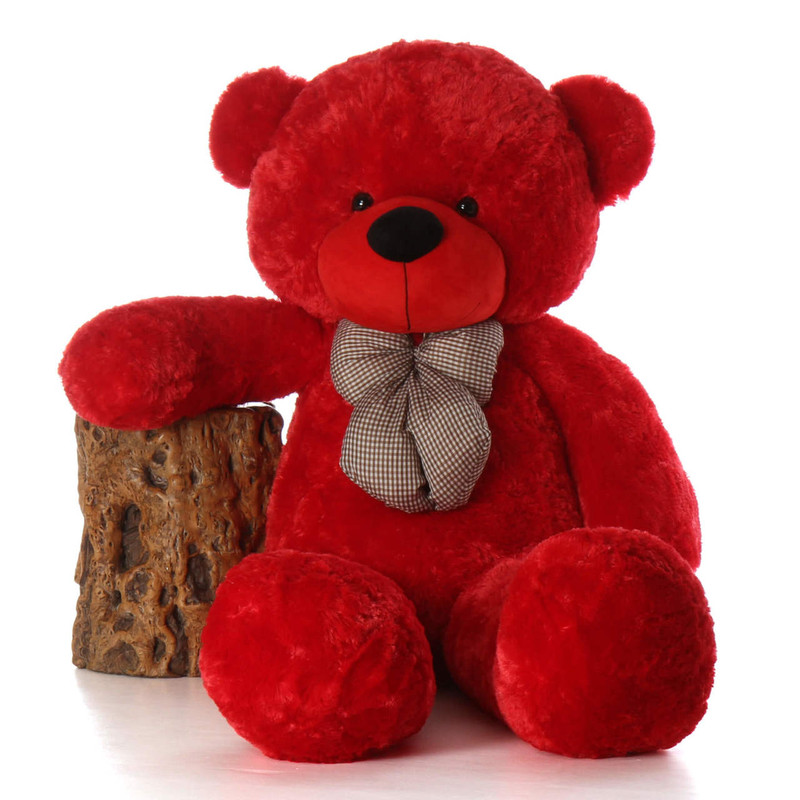 Bitsy Cuddles 60 Life Size Red Plush Teddy Bear Giant