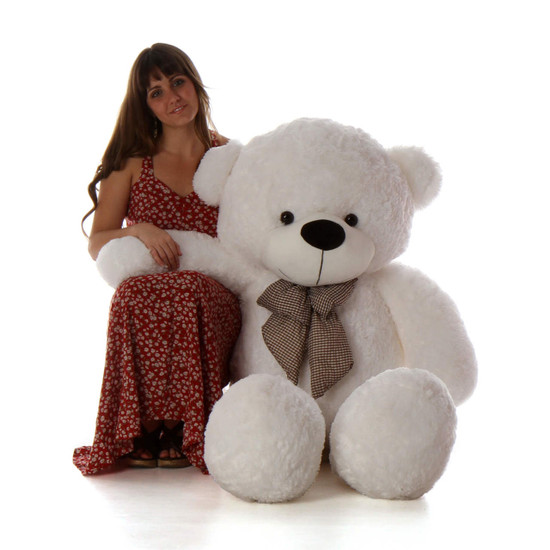 Coco Cuddles 55 Huge White Stuffed Teddy Bear Giant