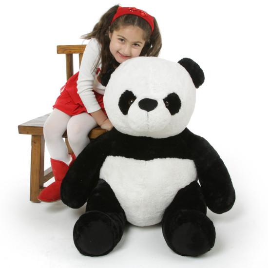Mama Xin Huggable Black And White Stuffed Panda Teddy Bear