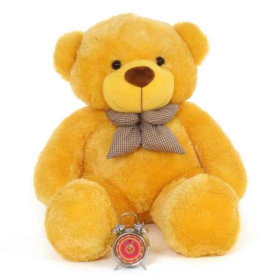 4ft Life Size Teddy Bear Beautiful Sunny Yellow Fur Daisy