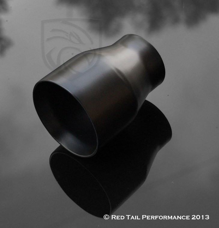 exhaust muffler tip round double wall straight cut inner beveled edge 2 25 inlet id 3 5 outlet od rtp 013stb