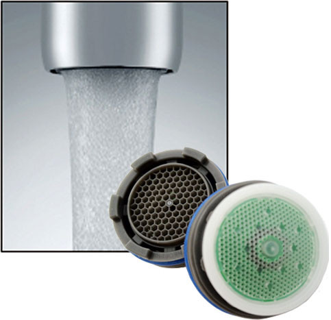 neoperl cache 1 5 gpm aerated stream water saving faucet aerator 4 sizes