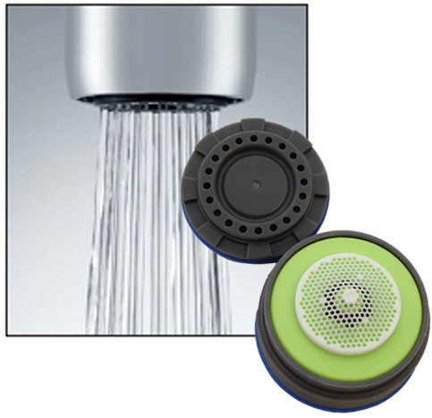 neoperl cache 0 5 gpm multi laminar faucet aerator insert kitchen bathroom faucets