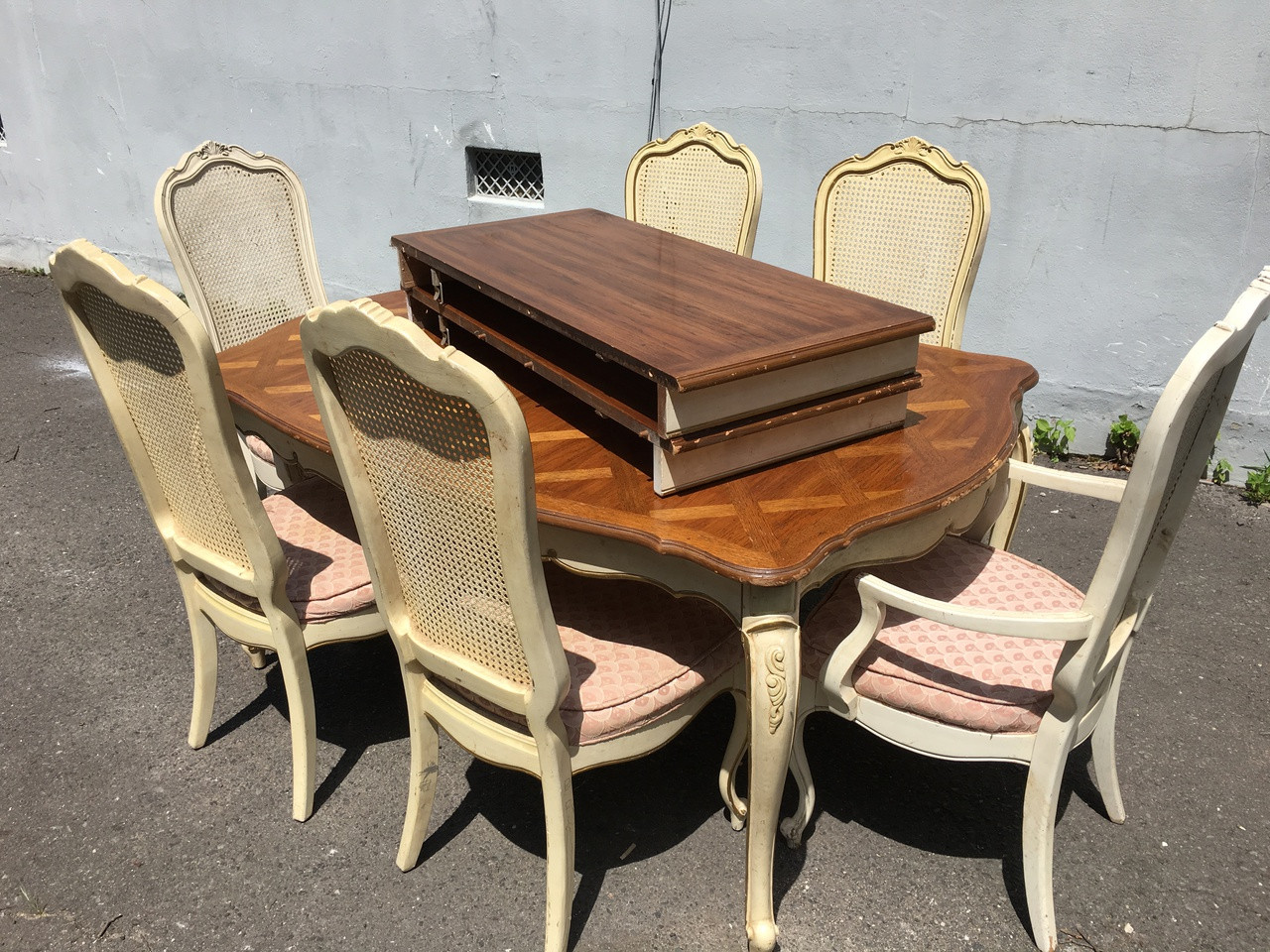 thomasville 9ft french provincial dining table w 6 chairs
