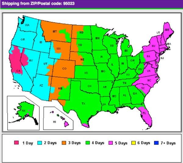 Fedex Zone Map | My blog
