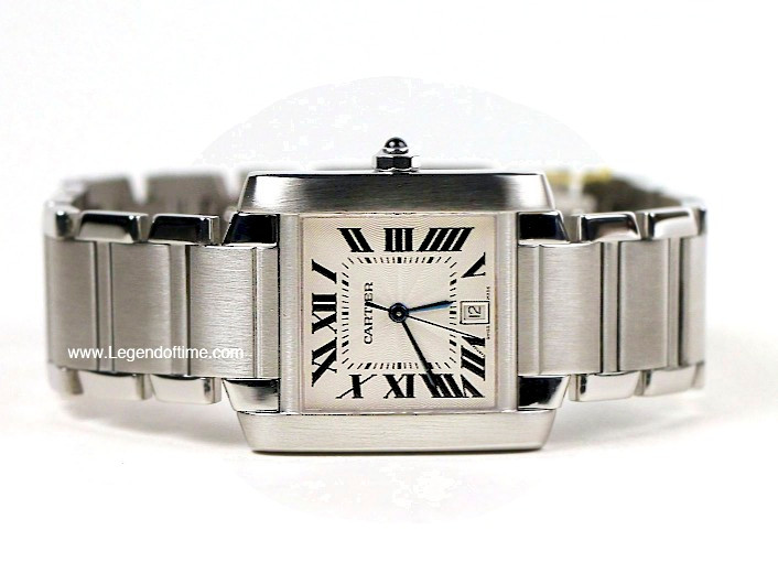 Cartier Watches Tank Francaise Large Swiss Stainless Steel  Ref     Image 1