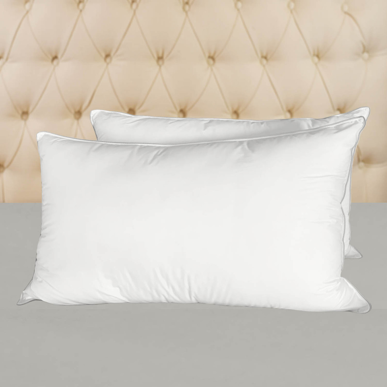 https www naturalcomfortcompany com premier hotel pillows allergy shields anti dustmite microfiber pillows medium firm filled set of two