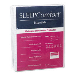 Waterproof Mattress Protector By Sleep Comfort Features A Terry Towelling Surface Provides Absorbency While The Flexible