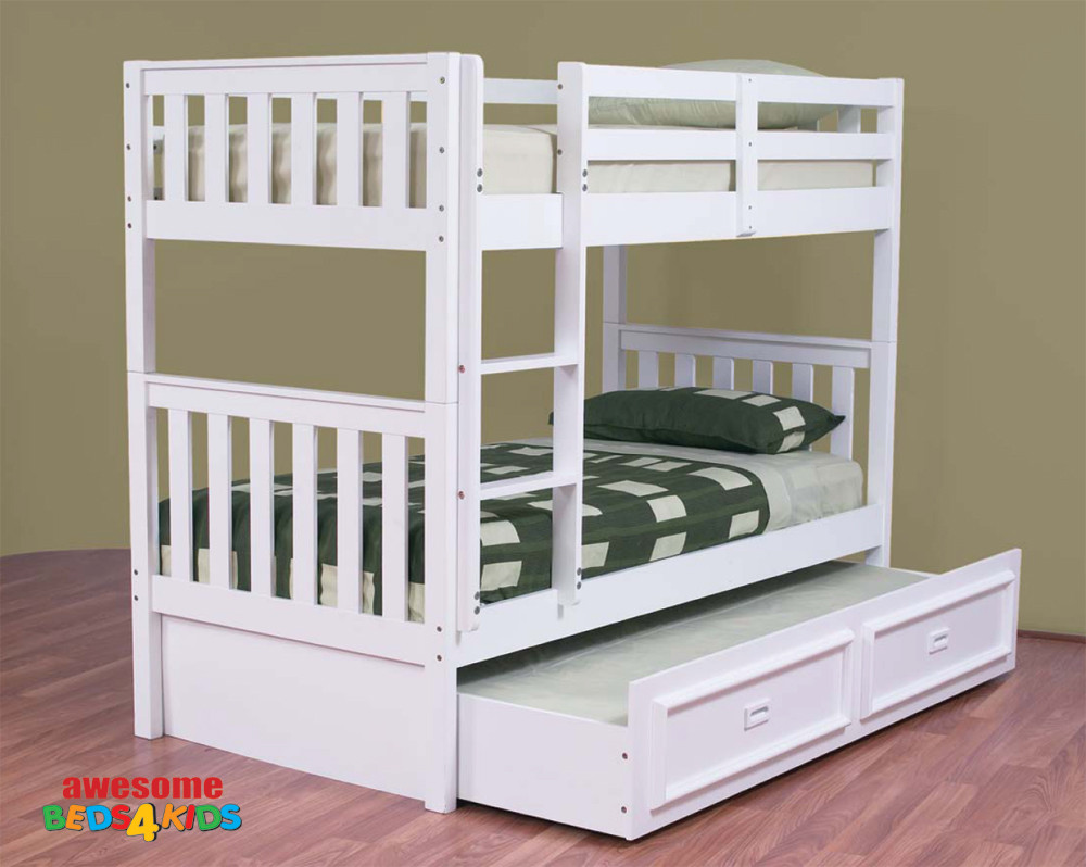 Jester Bunk Bed White Bunk Bed Boys Bunk Bed Girls Bunk Bed Awesome Beds 4 Kids