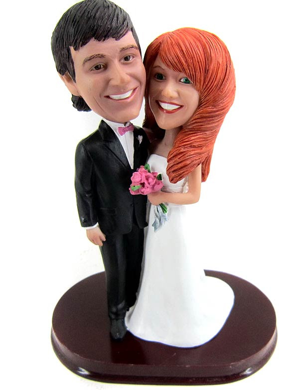 Classic Strapless A-Line Wedding Cake Topper