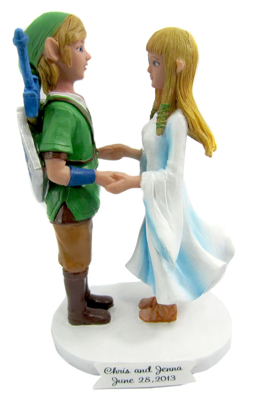The Legend of Zelda Link and Zelda Wedding Cake Topper