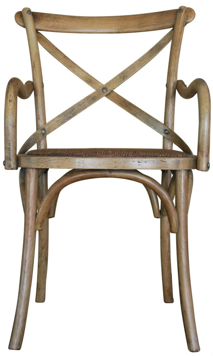 Natural Coloured Carver Crossback Chair