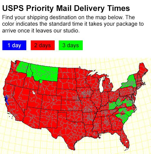 Mail Delivery Estimates
