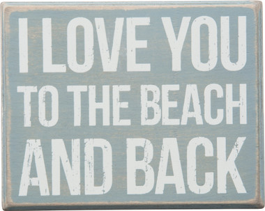 Download I Love you to the Beach and Back - Wood Box Sign ...