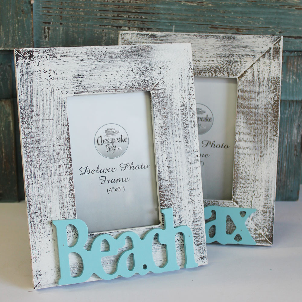 Beach Amp Relax 4x6 Picture Frame Set White Washed Coastal
