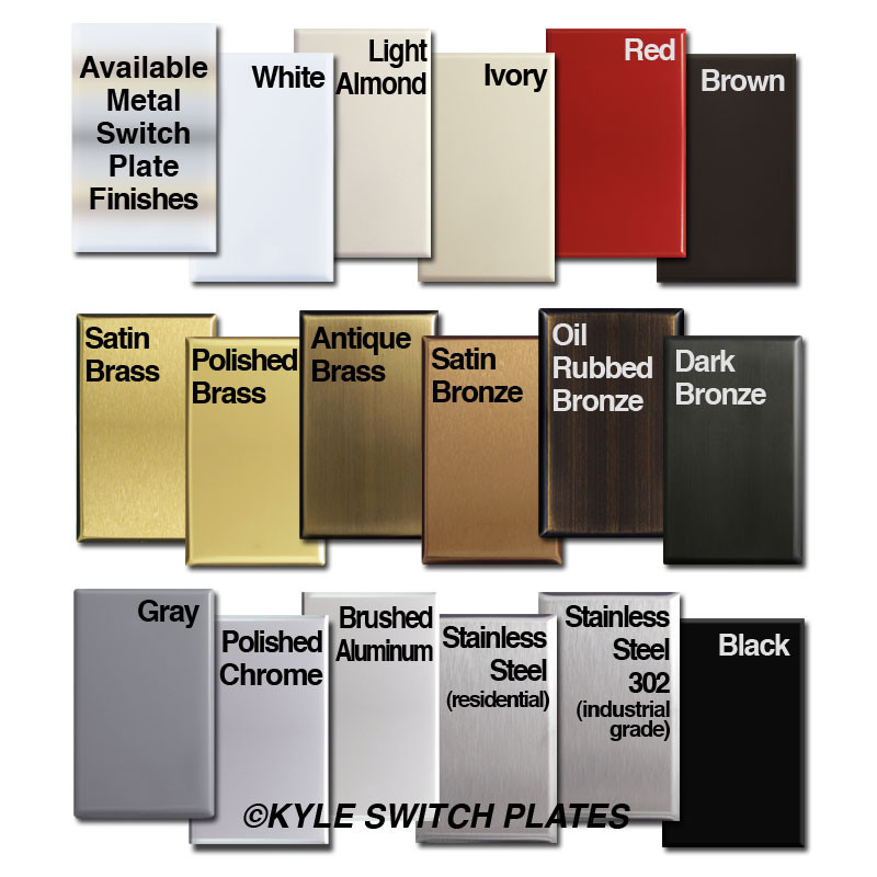Kyle Switch Plates - Switch Plate Finish Options